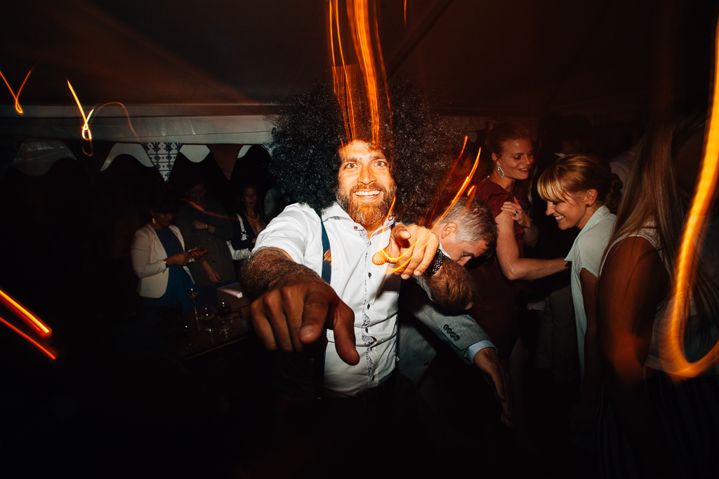 afro wedding dude