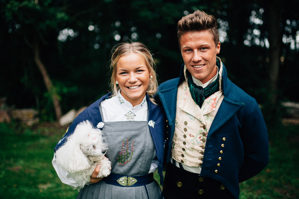 Norwegian national Costume photogenic couple